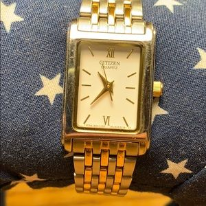 Citizen silver/gold colored watch Japan movement